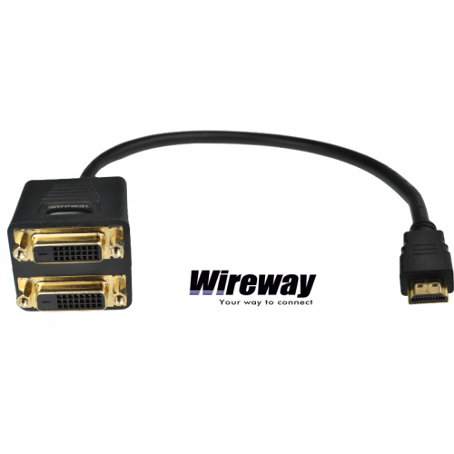 WI HDMI TO 2 DVI SPLITTER